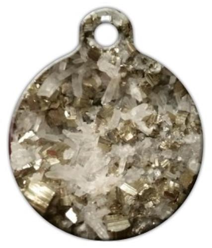 Pyrite Quartz Dog ID Tag