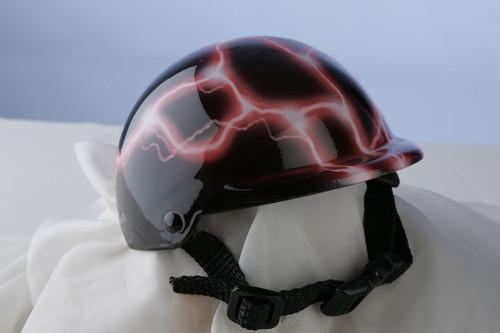 Pink Lightning Dog Helmet