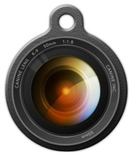 Camera Lens Dog ID Tag
