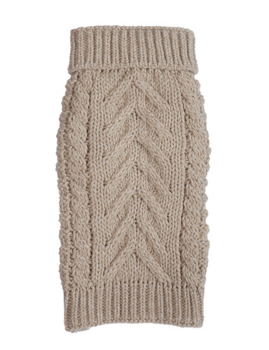 Chunky Knit Dog Sweater - Oatmeal