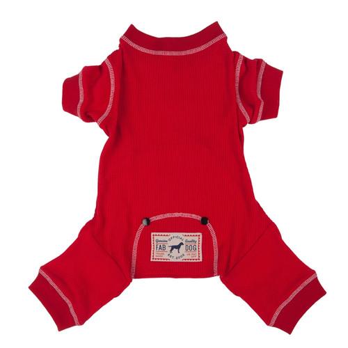 Dog Pajamas    Thermal Dog PJ's - red