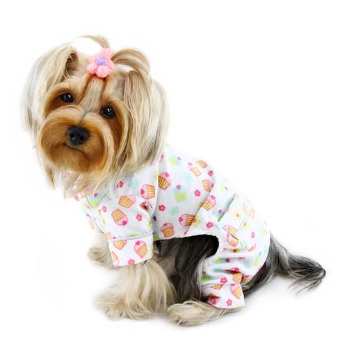 Flannel Cupcakes Dog Pajamas