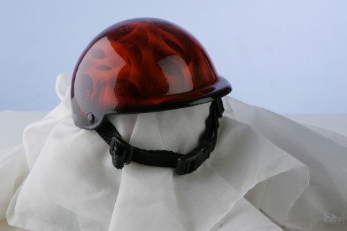 Airbrushed Marble Flames Dog Helmet