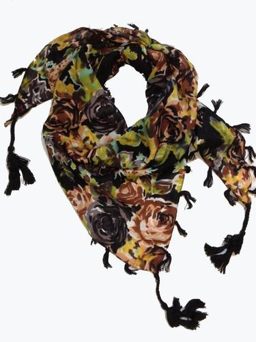 Designer Dog Scarf - Black Floral