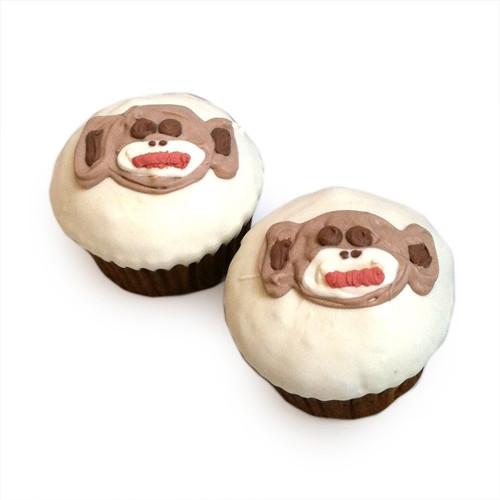Sock Monkey Cupcakes (set of 6)