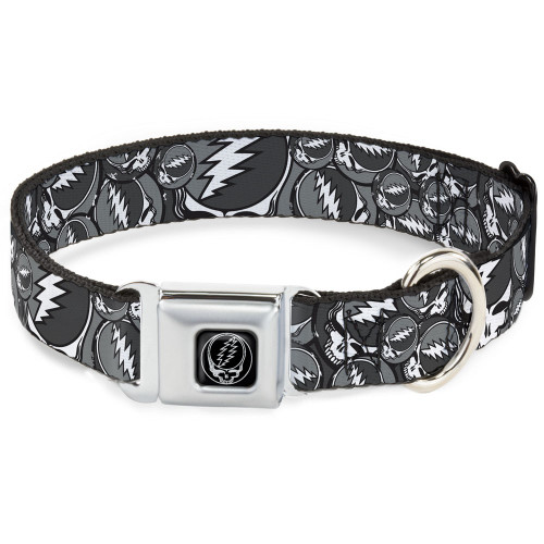 Grateful Dead Dog Collar stacked grey