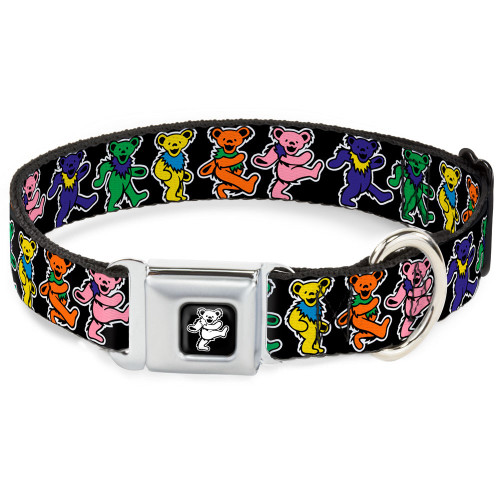 Grateful Dead dancing bears dog collar