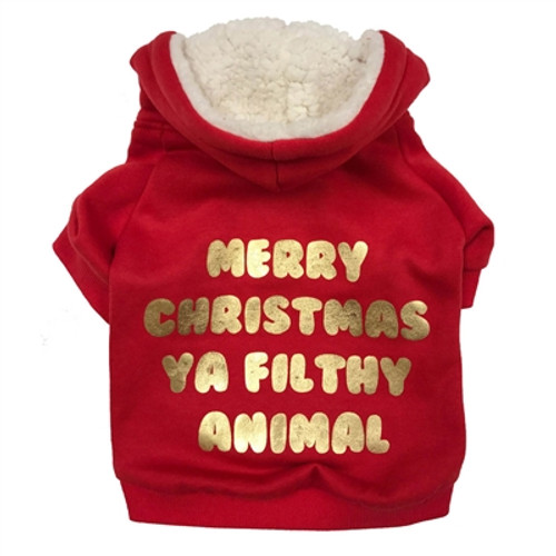 christmas dog hoodie