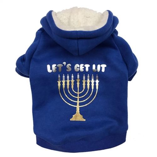 let's get lit dog hoodie