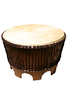 Drum Table with Rope Tuned Natural Head 28-by-18-Inch