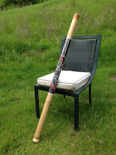 Bamboo Tan Gekko Design Didgeridoo