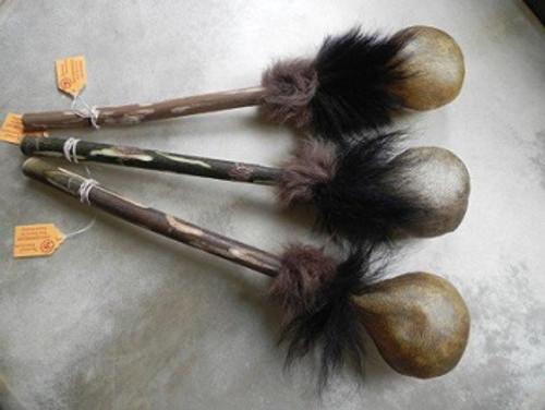 Medicine Rattle w/ Fur