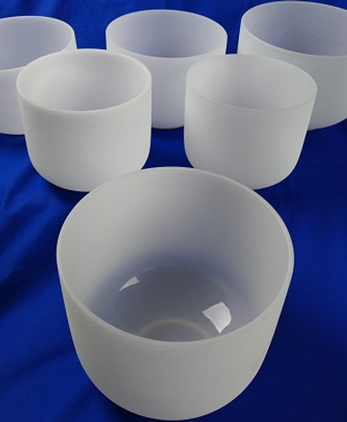All 9 Bowl Frosted Crystal Bowl Sets