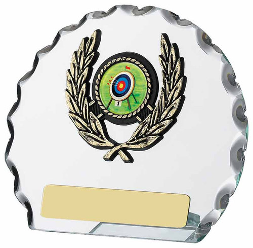 Multi Sport Round Chiseled Glass Award