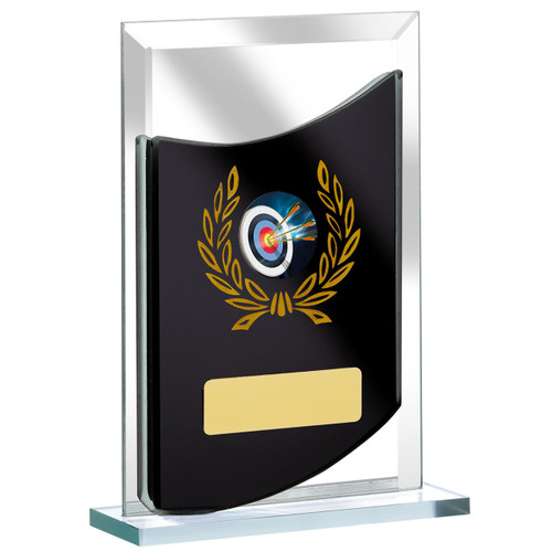 Black mirror glass multi activity trophy award budget prices from 1st Place 4 Trophies