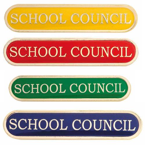 SCHOOL COUNCIL ENAMEL BAR BADGE