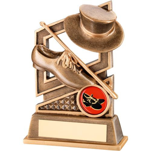 Top Hat, Shoe & Cane Tap Dance Award that includes FREE personalised engraving.