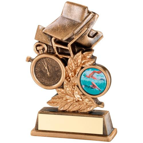 Gold Laurel Timer and Board Swimming Trophy available with FREE personalised engraving.