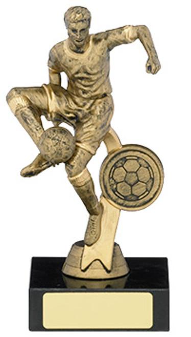Antique gold football player budget award