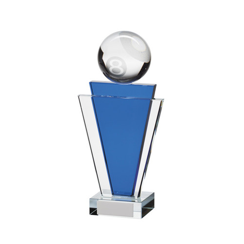 Gauntlet premium blue clear glass ball award