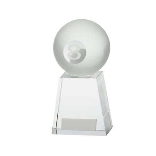 Stylish Pool Crystal trophy 8 ball award
