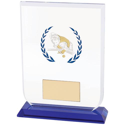 Gladiator Pool Snooker premier Glass trophy award