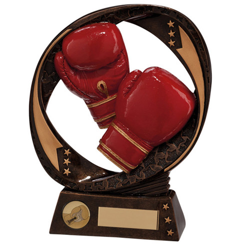 Typhoon boxing red gloves trophy award