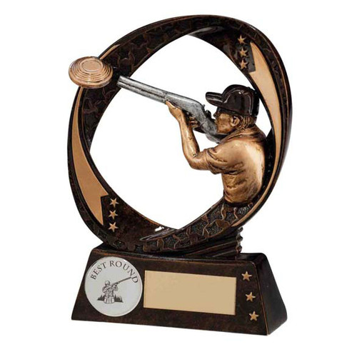 Typhoon Clay Pigeon Shooting Award available in 2 sizes