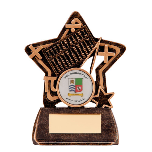 Little Star Arithmetic Maths award budget great value cheap trophy