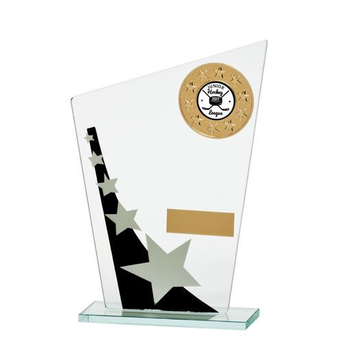 Multisport Mega Star budget glass trophy cheap affordable award