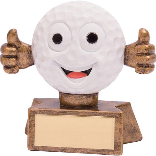 Smiler novelty comic golf ball fun trophy award