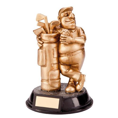 Outrageous Beer Belly novelty gold golf award