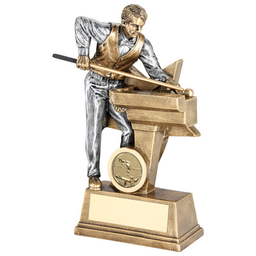 A fitting award for the superstar Pool or Snooker player and with FREE personalised  engraving