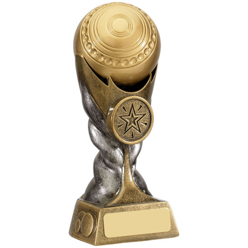 Silver and Gold Lawn Bowls affordable trophy award available in 2 sizes from 1stPlace4Trophies