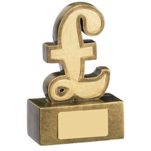 Fundraising Award Pound sign for charity events, or to raise money for a special event, school or company