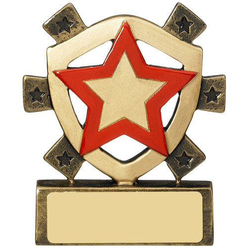 Red Star Award RM679 budget great value school house or sports event trophy with FREE engraving!