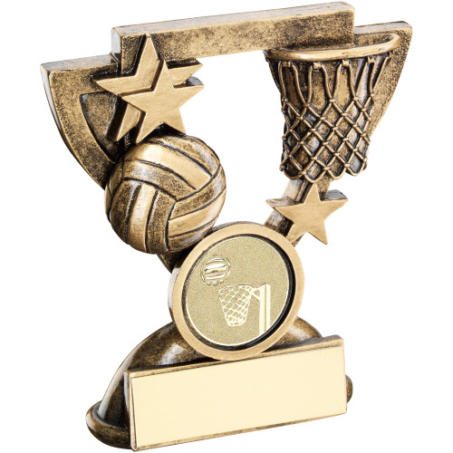 Great value Netball Award available with FREE personalised engraving and standard insert.