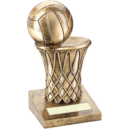 Full 3D net and ball Netball Trophy available with FREE engraving