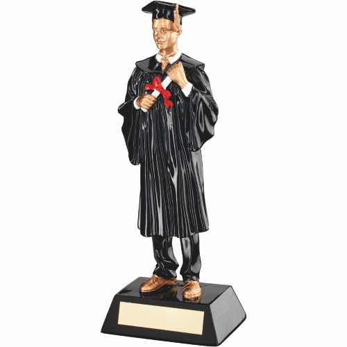 Finished University? This male graduate achievement trophy with FREE personalised engraving is the perfect award.