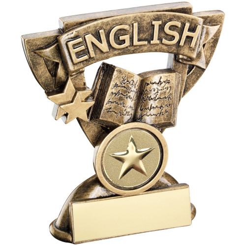 School English Achievement Award in a cup star frame. Includes FREE personalised engraving.
