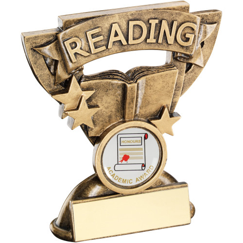 School Reading Achievement Award in a cup star frame. Includes FREE personalised engraving.