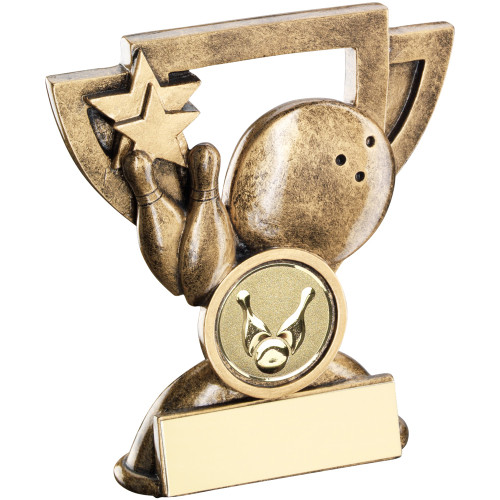 Great Value budget Ten Pin Bowling Award available in 2 sizes and includes FREE engraving.