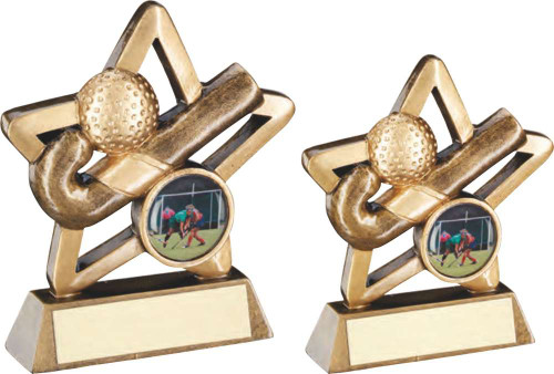 Great value mini Hockey star Award. Available in 2 sizes and includes FREE personalised engraving.