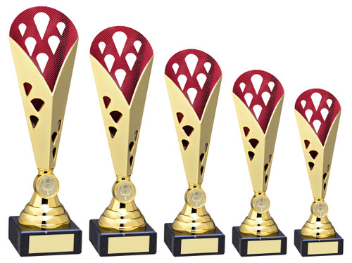 Available in 5 sizes this fabulous multisport trophy cup will not disappoint.