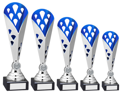 5 Fabulous sizes for this modern multisport trophy cup.