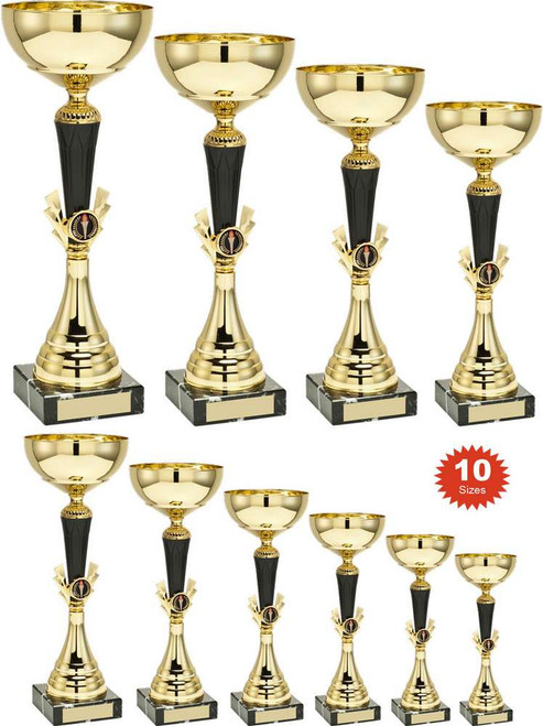 A whopping 10 sizes to choose from, this multisport cup is stylish and affordable. FREE engraving included.