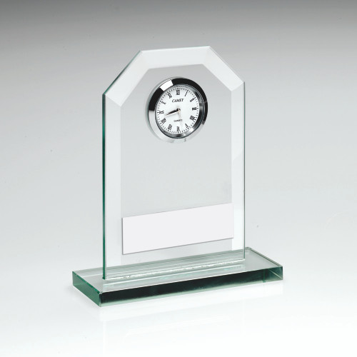 Stunning Jade Glass Clock that would make the perfect gift. 3 sizes all include FREE personalised engraving.