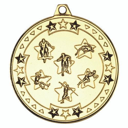 50mm Gold Athletics medal