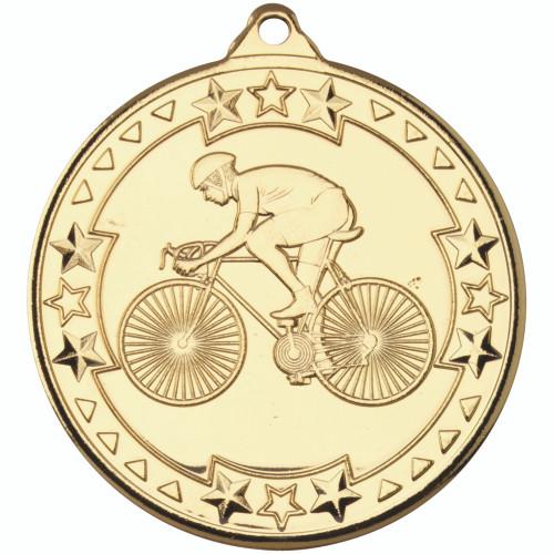 50mm Gold Cycling Medal Award