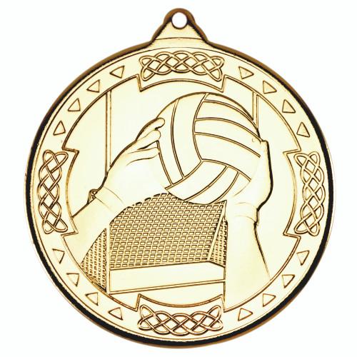 50mm Gold Gaelic Football Medal Award